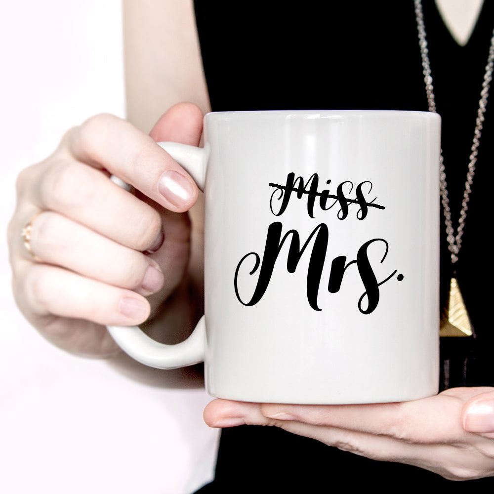 Miss to Mrs. Engagement Mug