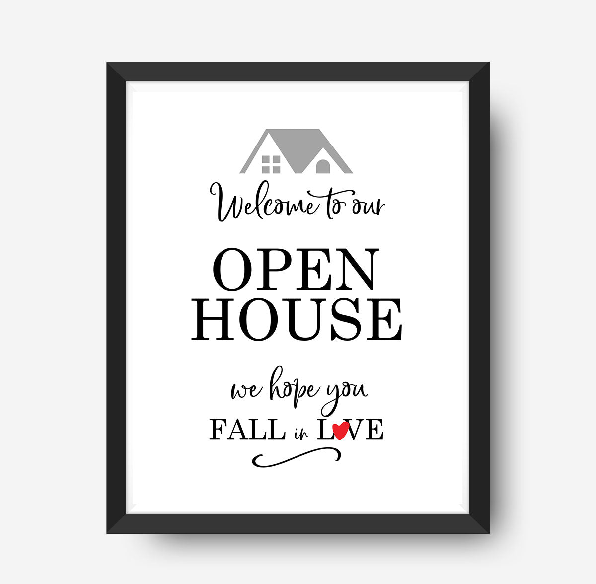 Open House Sign Printable