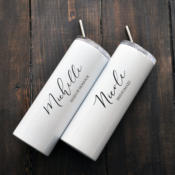 Custom Bridal Tumbler - Name and Title