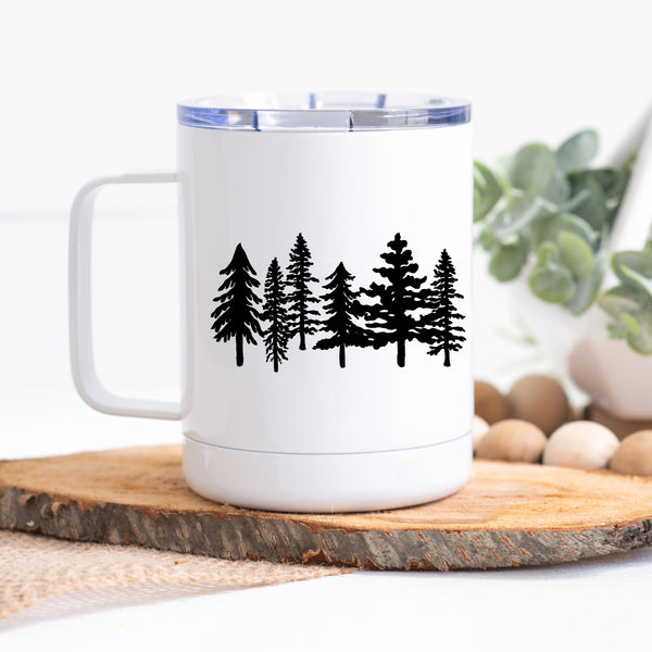 Travel Mug with Handle - Forest