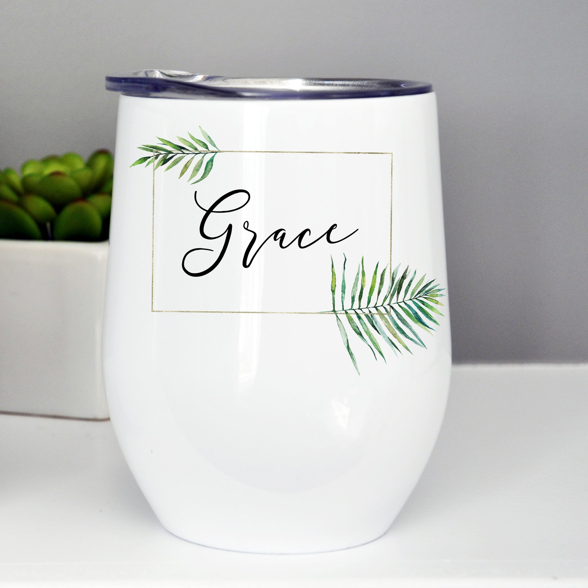 Bridesmaid Wine Tumbler with Lid