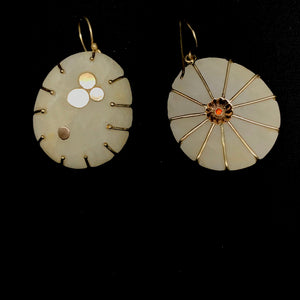 wrapped gold anemone earrings