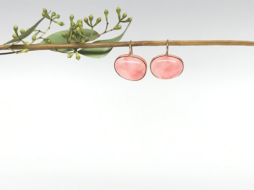 peach lassoed earrings
