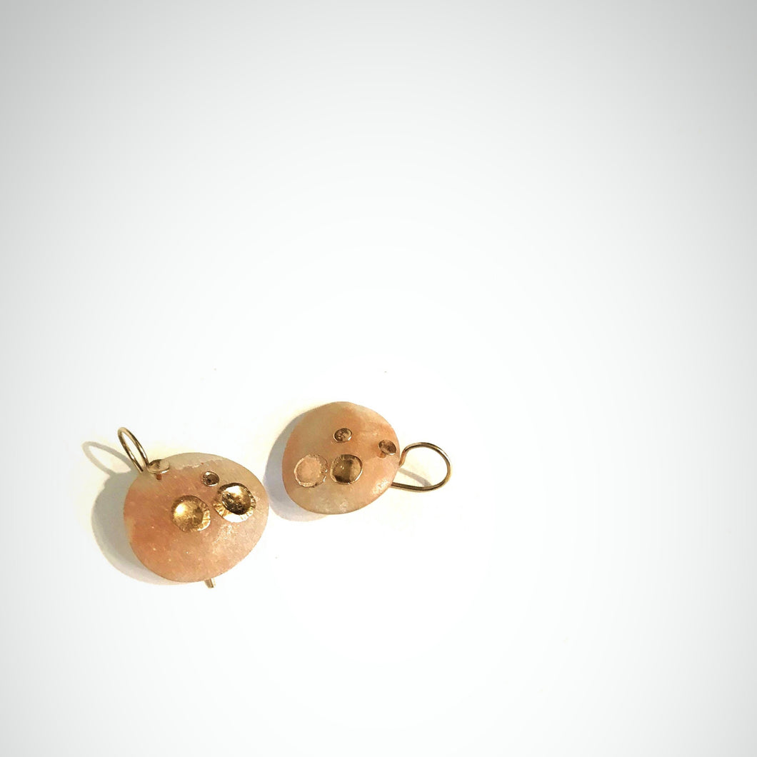 gold anemone earrings