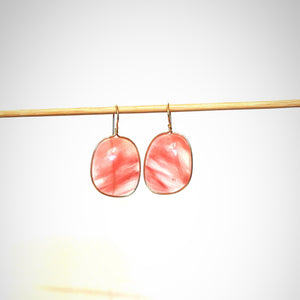 Pink Striated Lassoed Earring