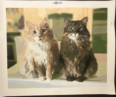custom paint by numbers cat painting made by miicreative