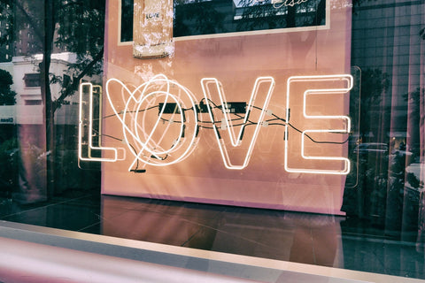 photo of heart with love signage