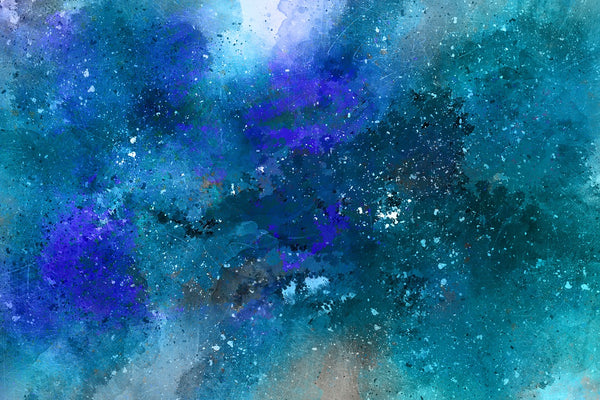 Universe painting in blue