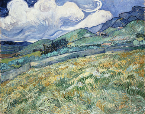 vincent van gogh mountain houses painting