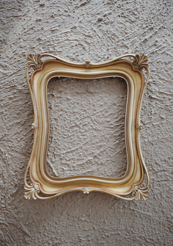 wooden antique frame with simple background