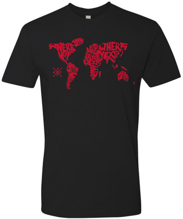 The World Tee- Black