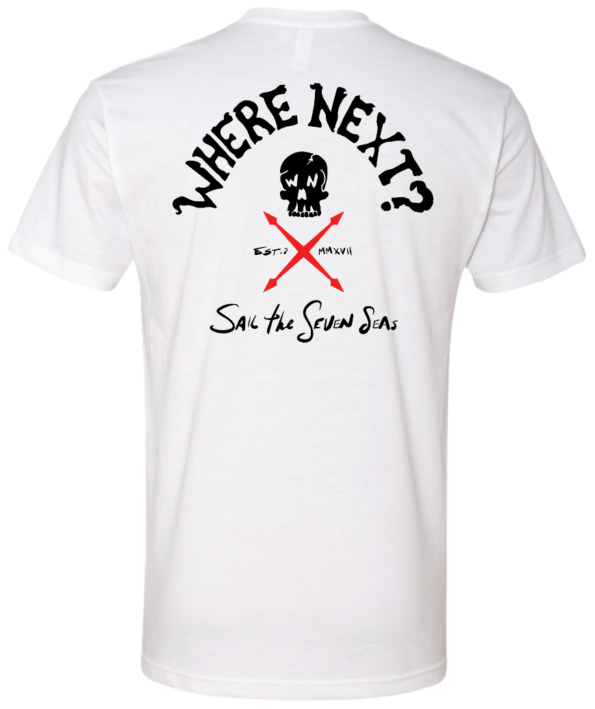 Sail The Seven Seas Tee- White