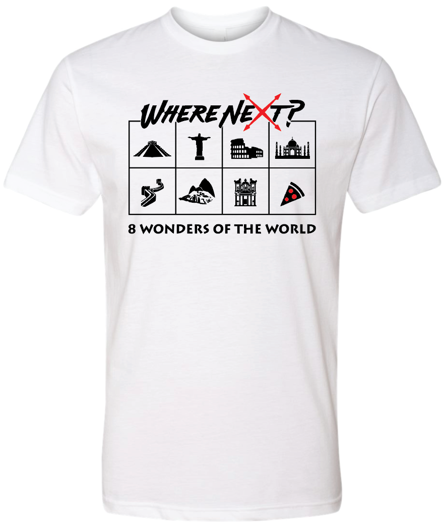 8 Wonders of the World Tee- White