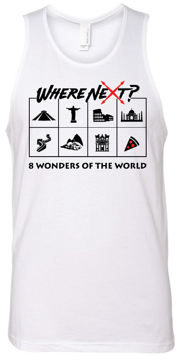 8 Wonders of the World Tank- White