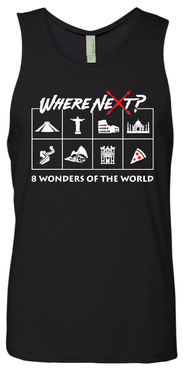 8 Wonders of the World Tank- Black