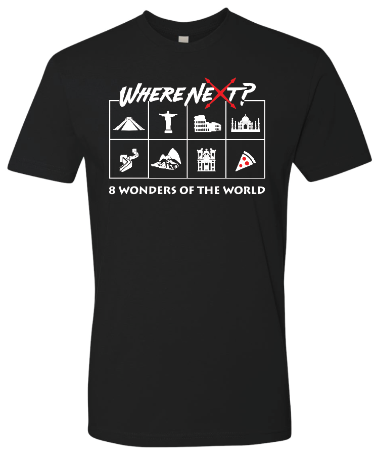 8 Wonders of the World Tee- Black
