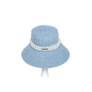 Light Blue Pearl Denim Bucket Hat
