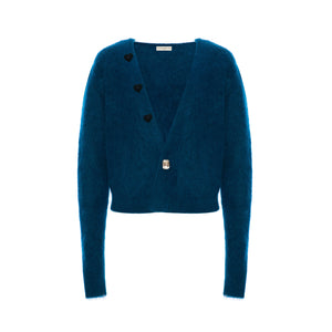 Blue Heart Mohair Cardigan