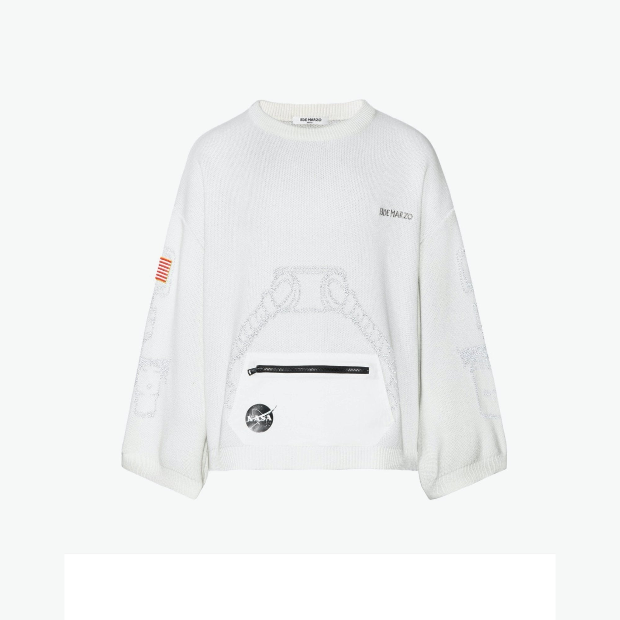13 DE MARZO 3M Reflect Astronaut Teddy Bear Sweater White | MADA IN CHINA