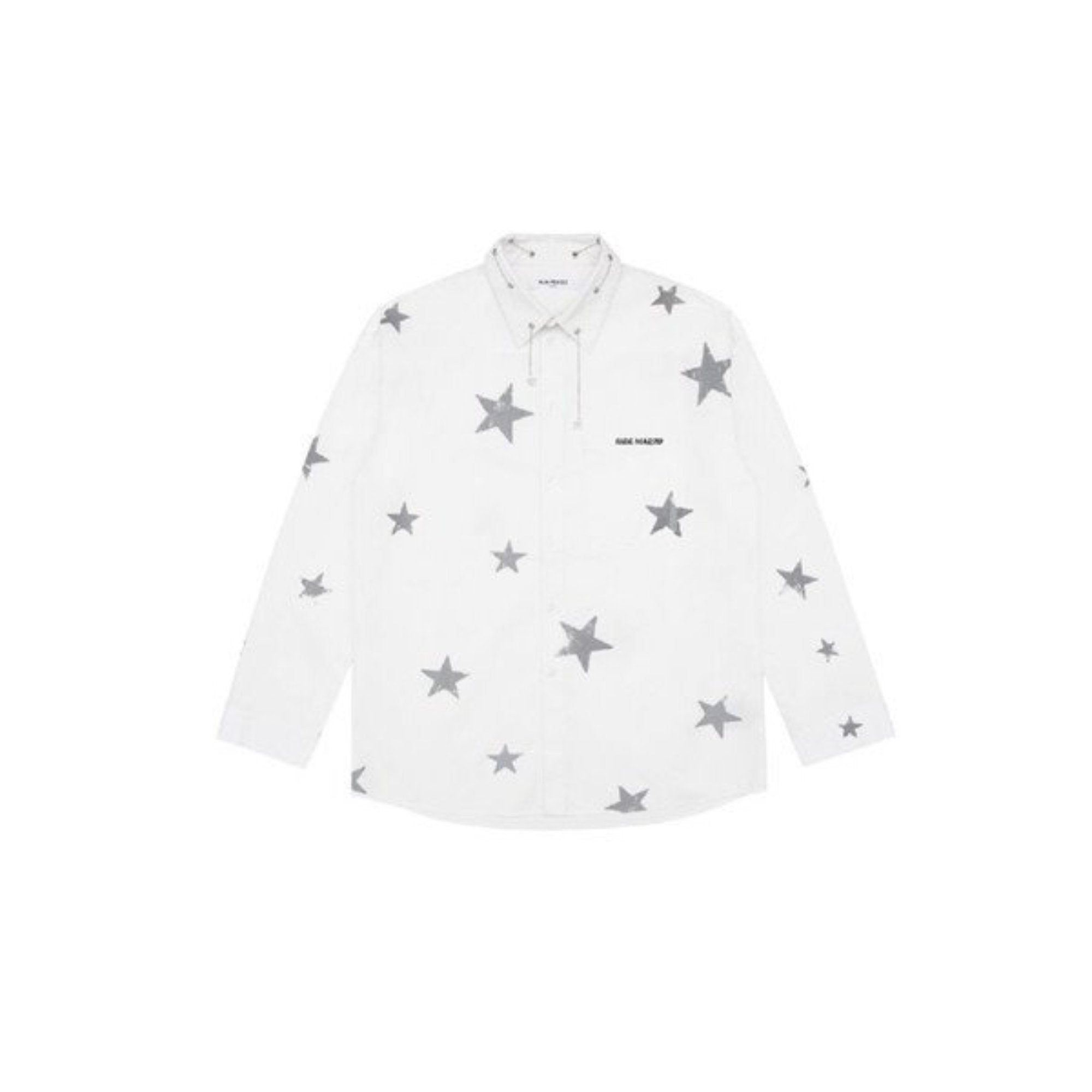 13 DE MARZO 3M Reflect Stars Chain Shirt White | MADA IN CHINA