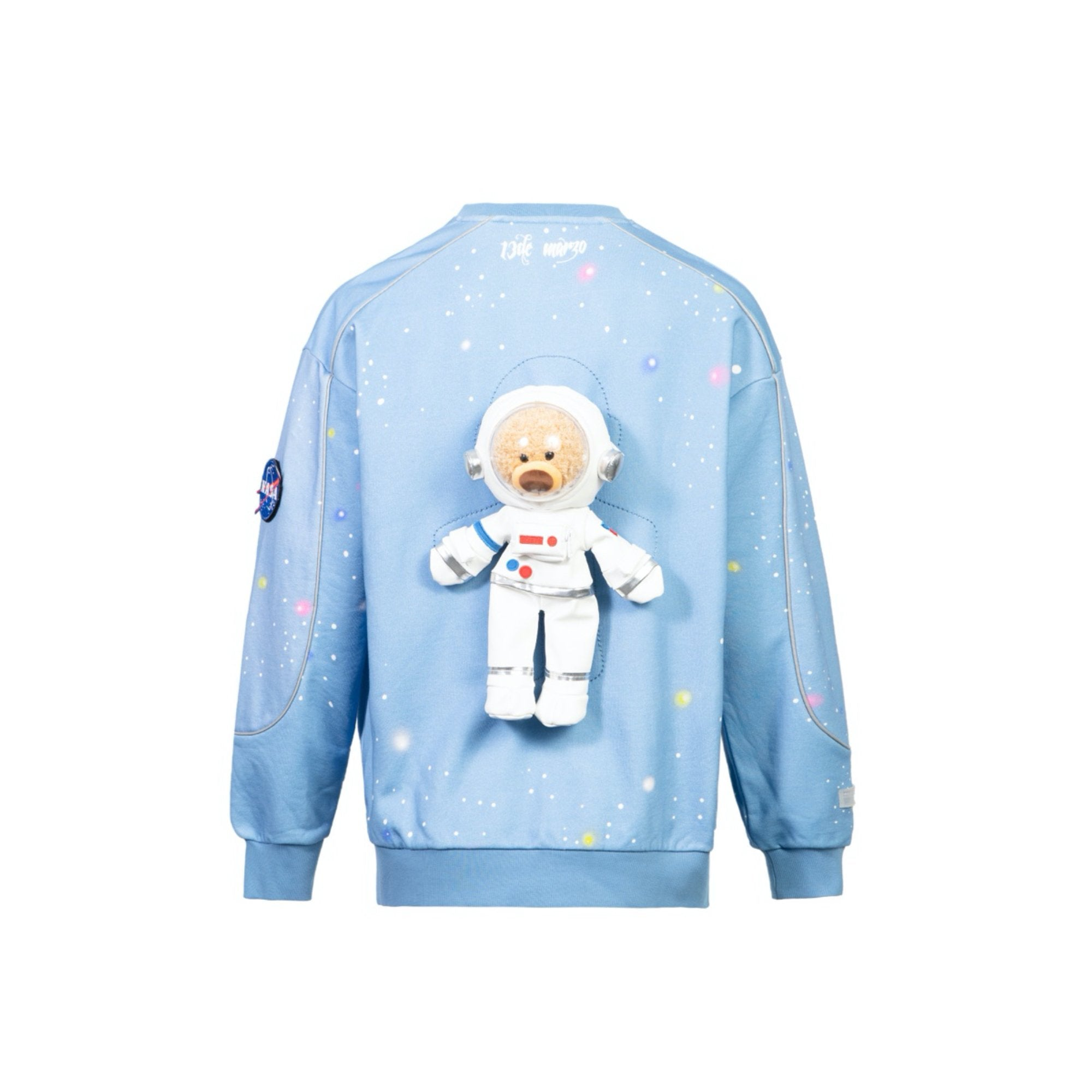 13 DE MARZO Astronaut Teddy Bear Galactic Starry Sweater Clear Sky | MADA IN CHINA