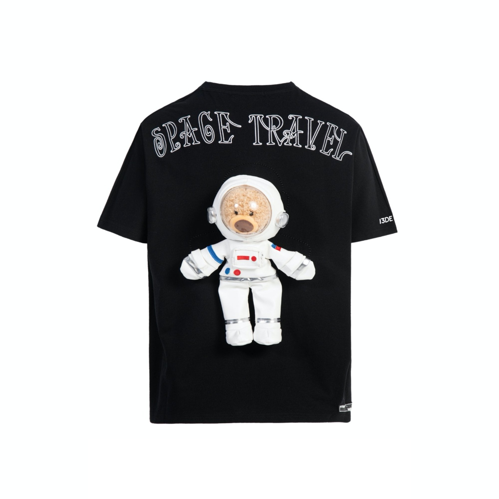 13 DE MARZO Astronaut Teddy Bear Tee Black | MADA IN CHINA