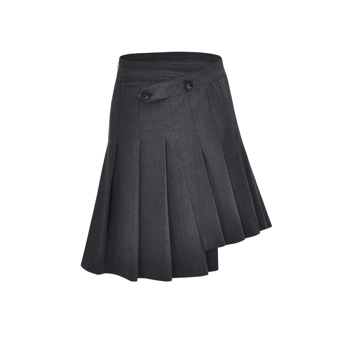 THREE QUARTERS Asymmetric Pleated Skirt | MADA IN CHINA