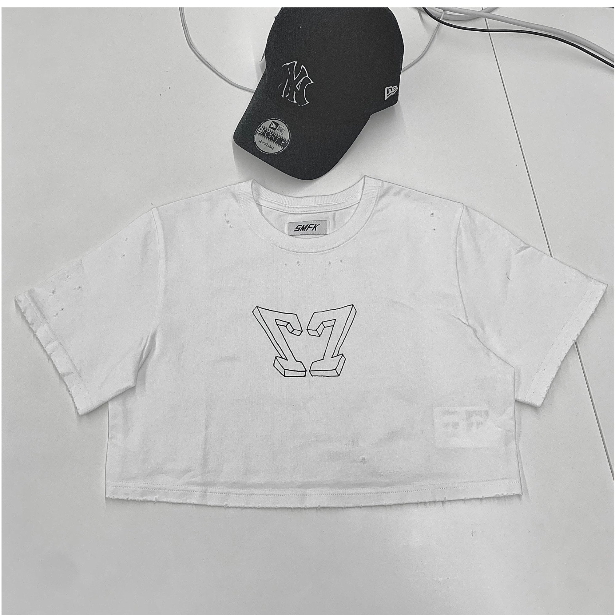 SMFK Baby Vintage Tee White | MADA IN CHINA