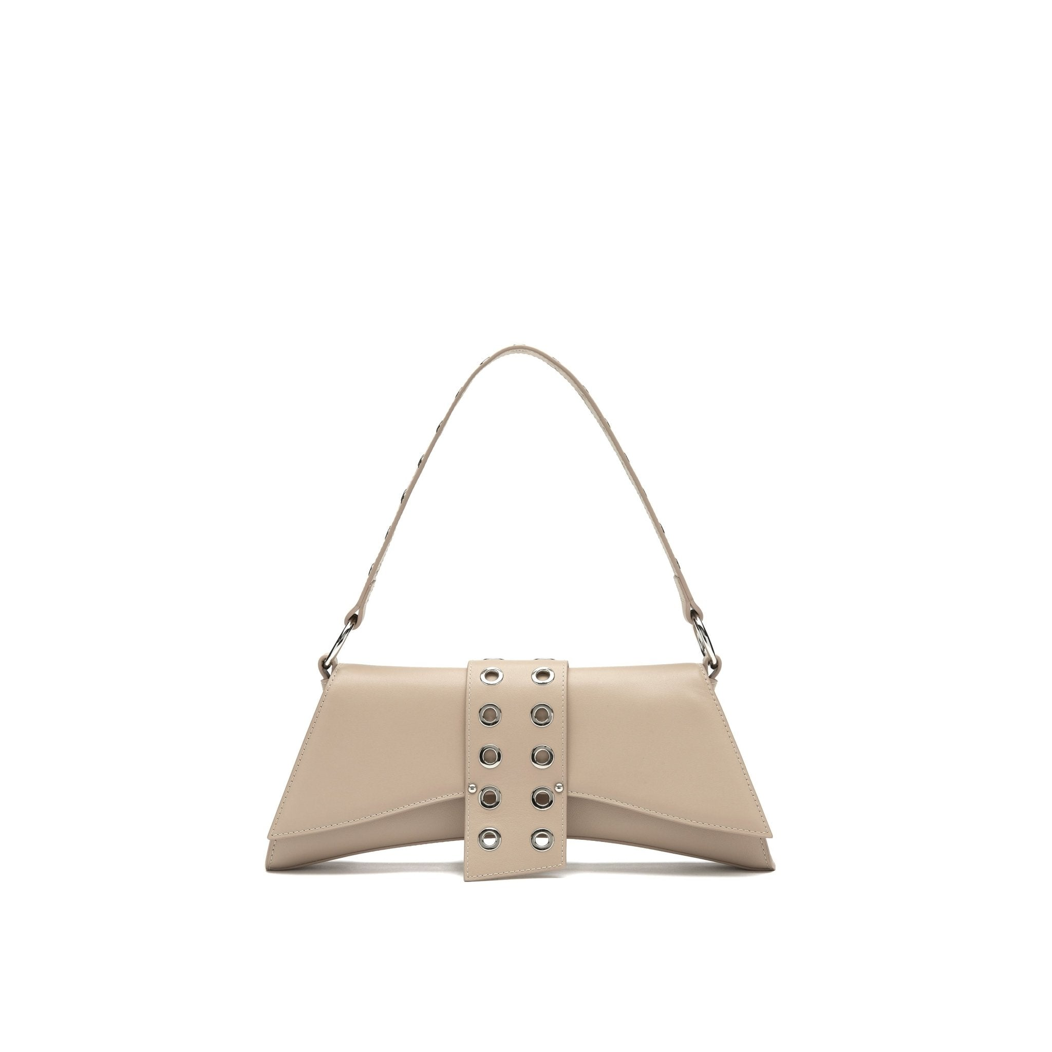 LOST IN ECHO Beige Barrett Metal Chain Shoulder Bag Large | MADA IN CHINA
