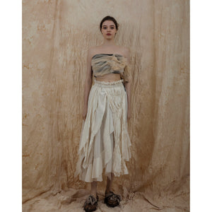 ELYWOOD Beige Bustier | MADA IN CHINA