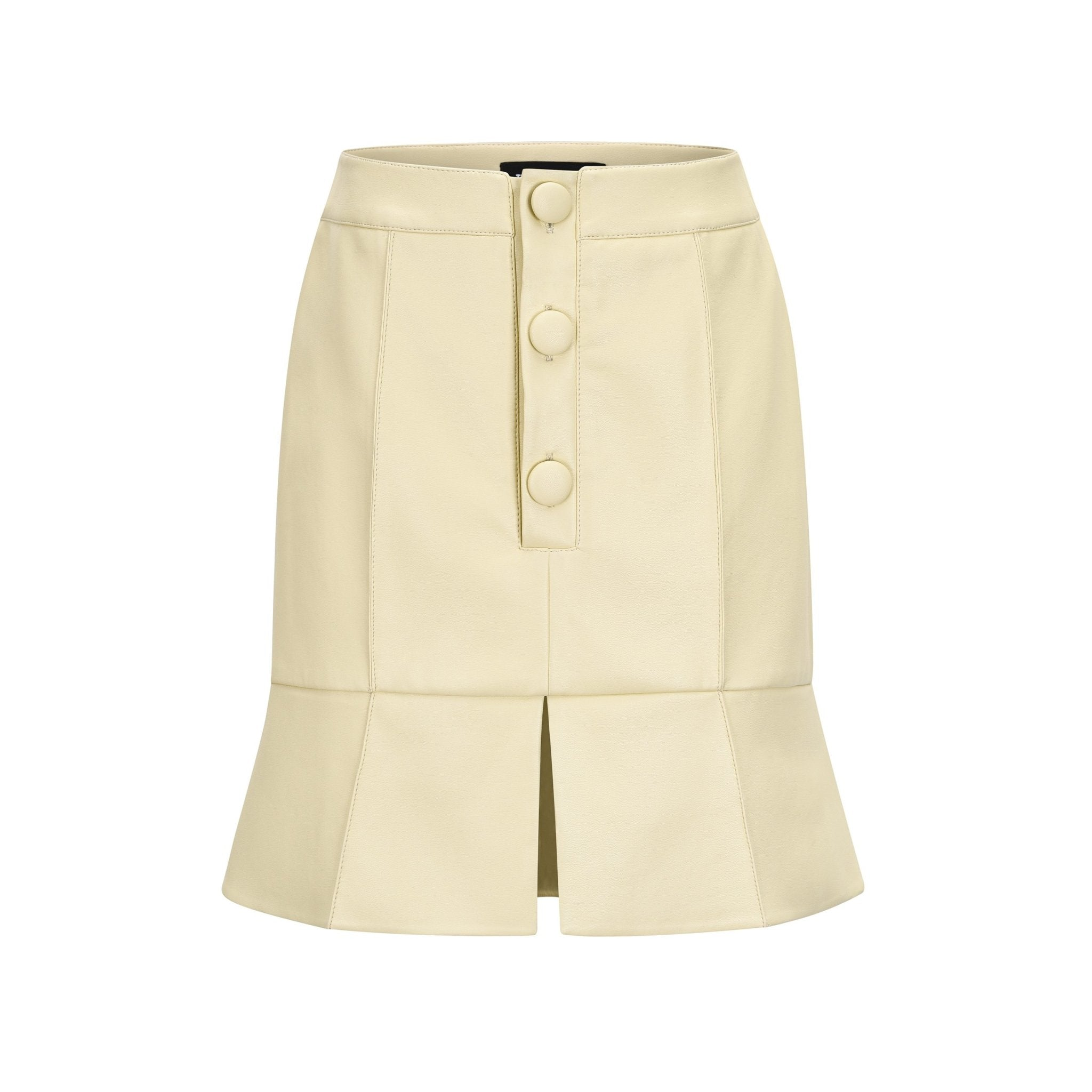 THREE QUARTERS Beige Misplaced Construction Skirt | MADA IN CHINA