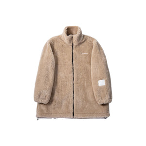ANN ANDELMAN Beige Teddy Fur Jacket | MADA IN CHINA
