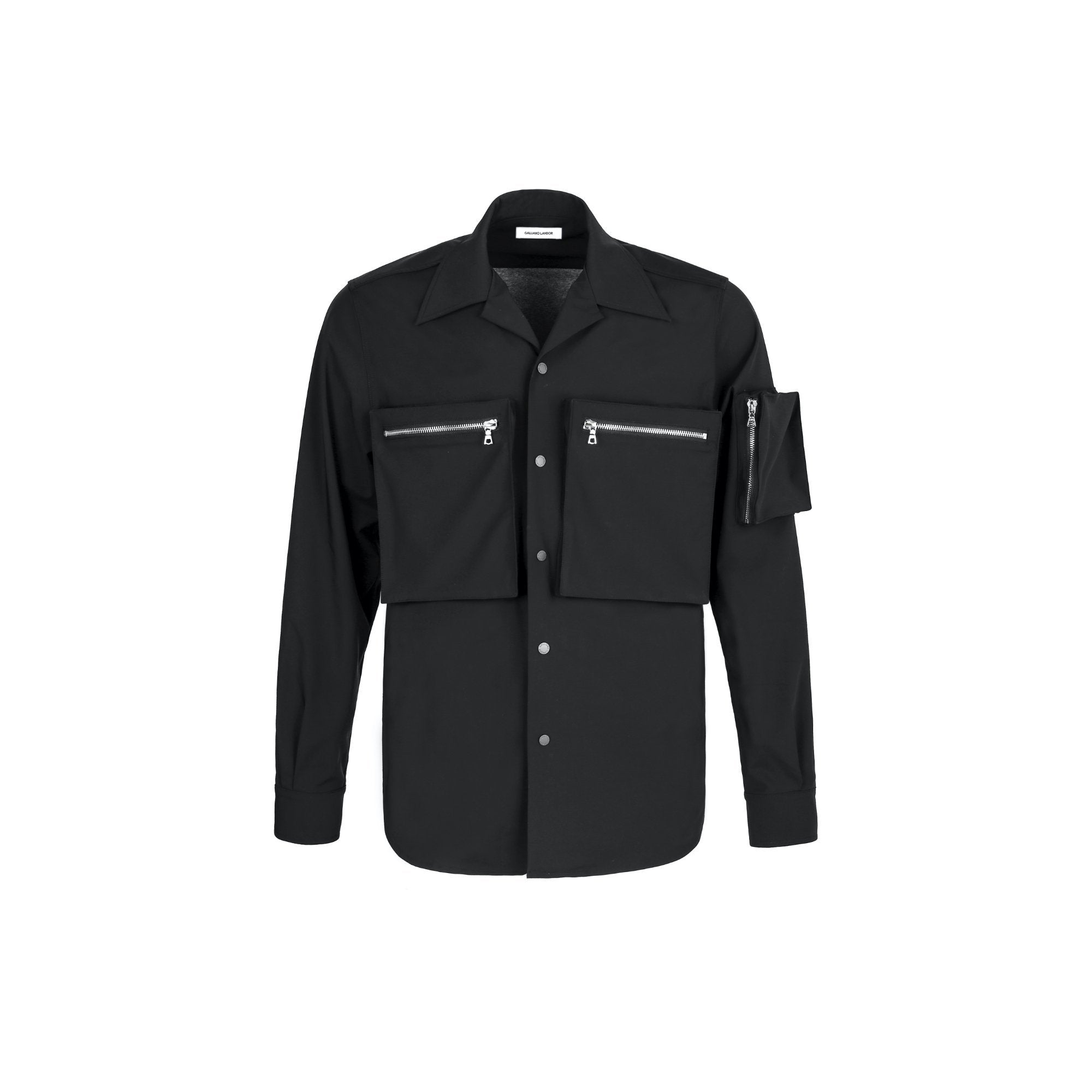 GALLIANO LANDOR Black Aero-Layer Tech-Nylon Shirt | MADA IN CHINA