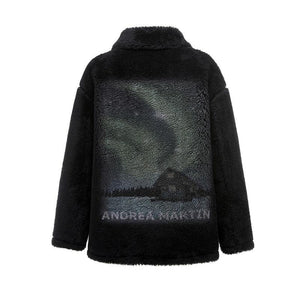 ANDREA MARTIN Black Aurora Fur Jacket | MADA IN CHINA