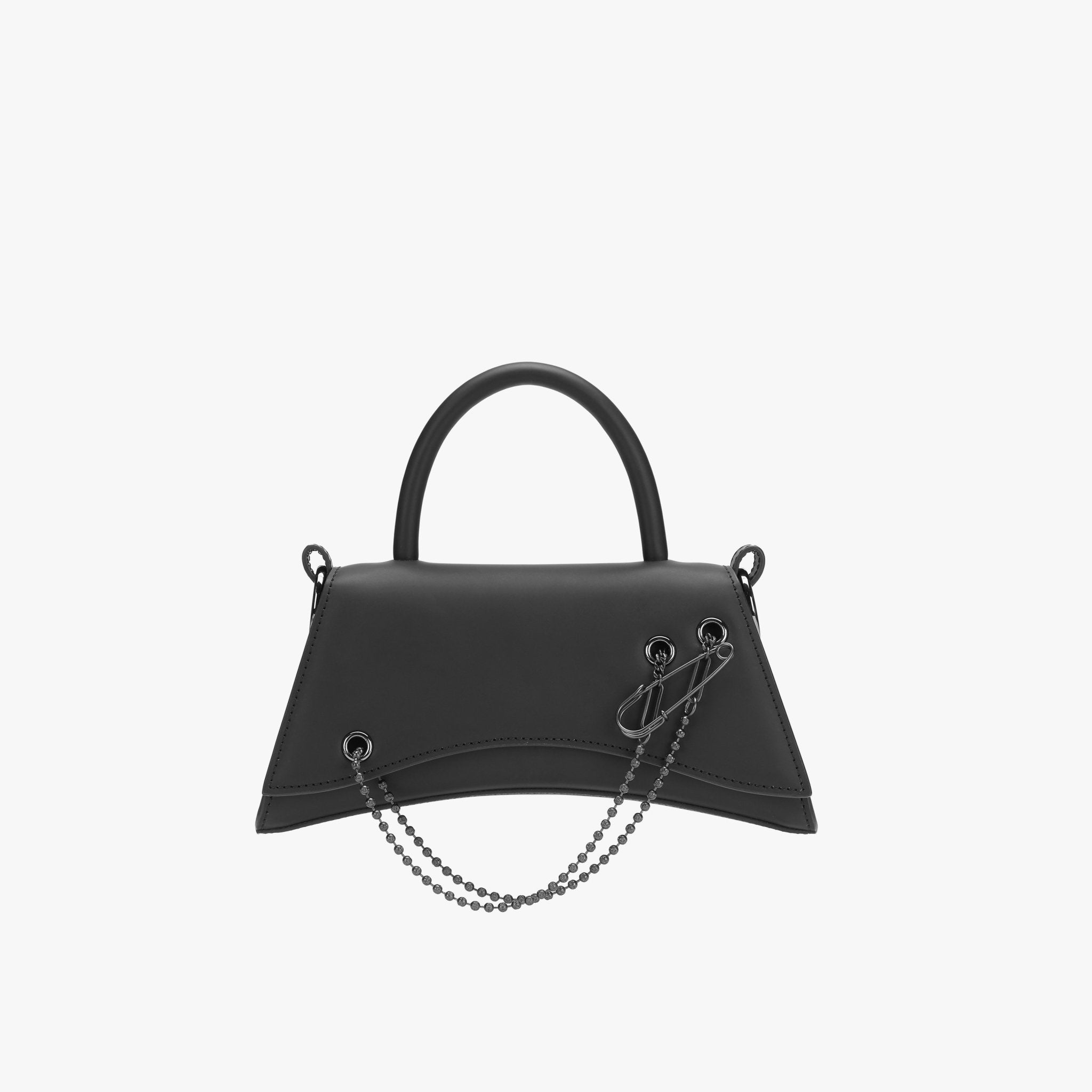 LOST IN ECHO Black Barrett Metal Chain Bag Small | MADA IN CHINA
