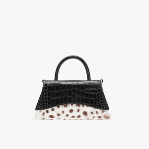 LOST IN ECHO Black Barrett Panelled Fur Bag Small | MADA IN CHINA