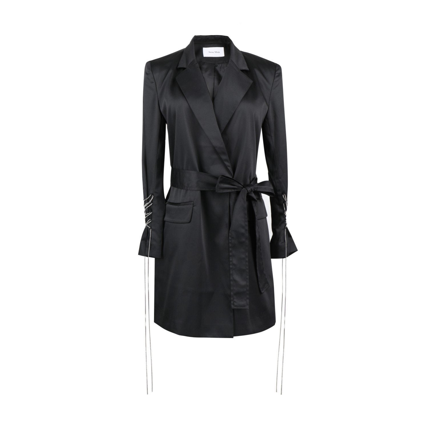 SASA MAX Black Belt Coat | MADA IN CHINA