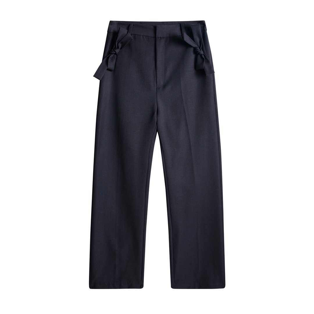 HERLIAN Black Bowknot Suit Pant | MADA IN CHINA
