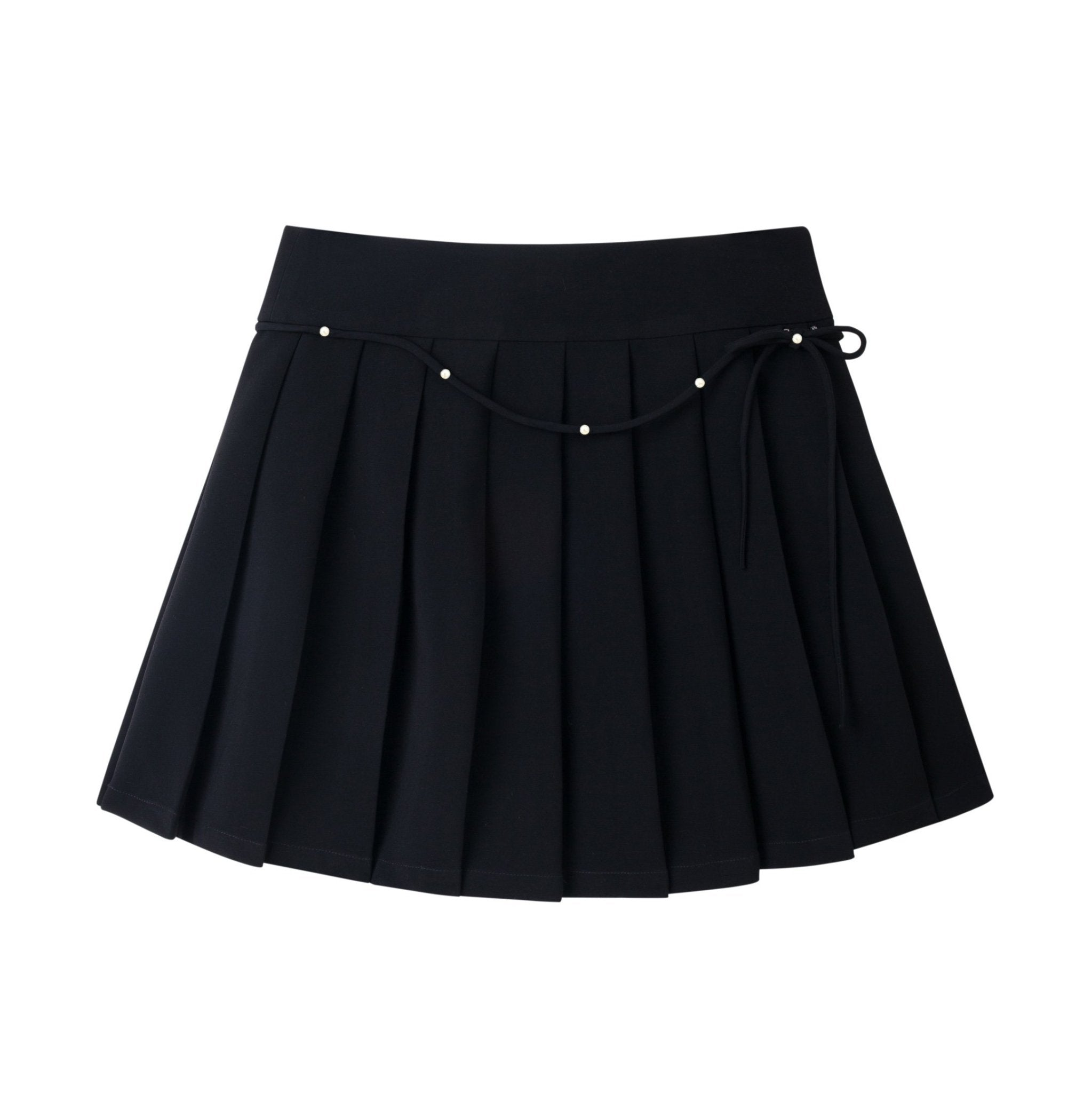 HERLIAN Black Bowtie Pleated Skirt | MADA IN CHINA