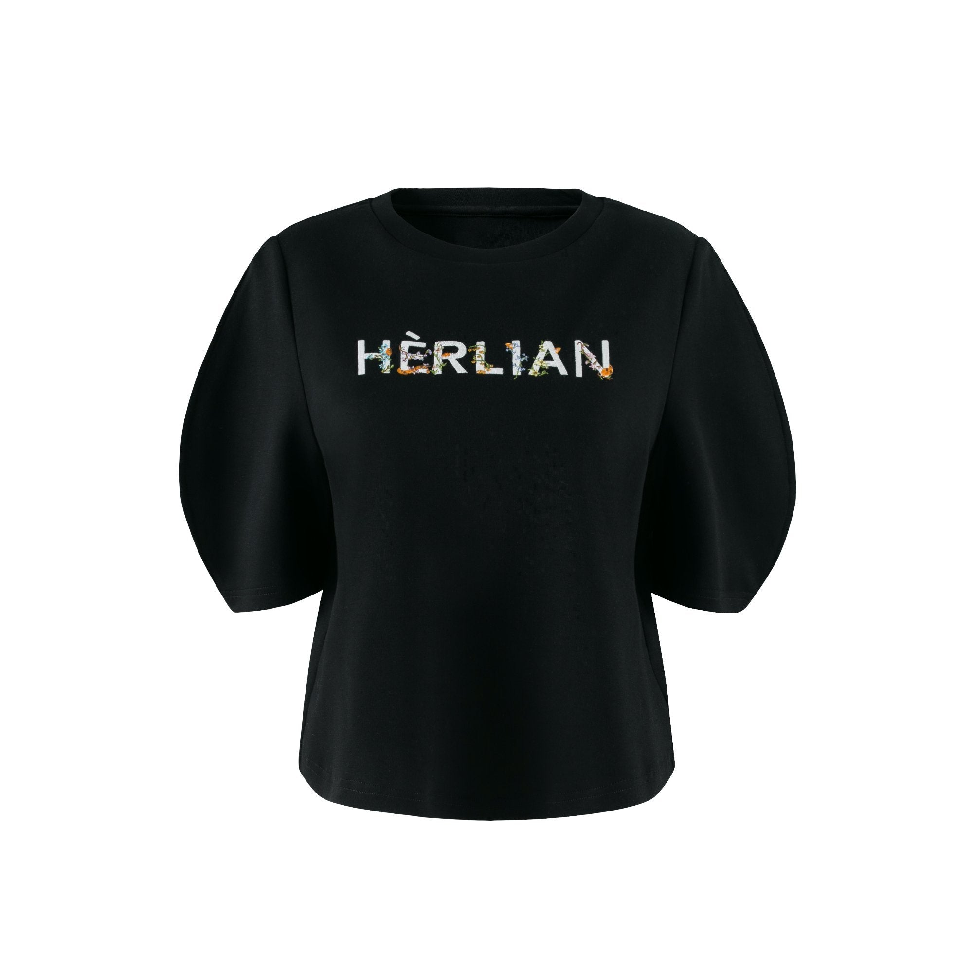 HERLIAN Black Bubble Sleeve Tee | MADA IN CHINA