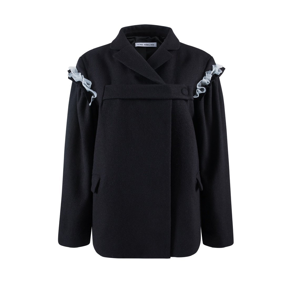 VIAS HERLIAN Black Buckle Jacket | MADA IN CHINA