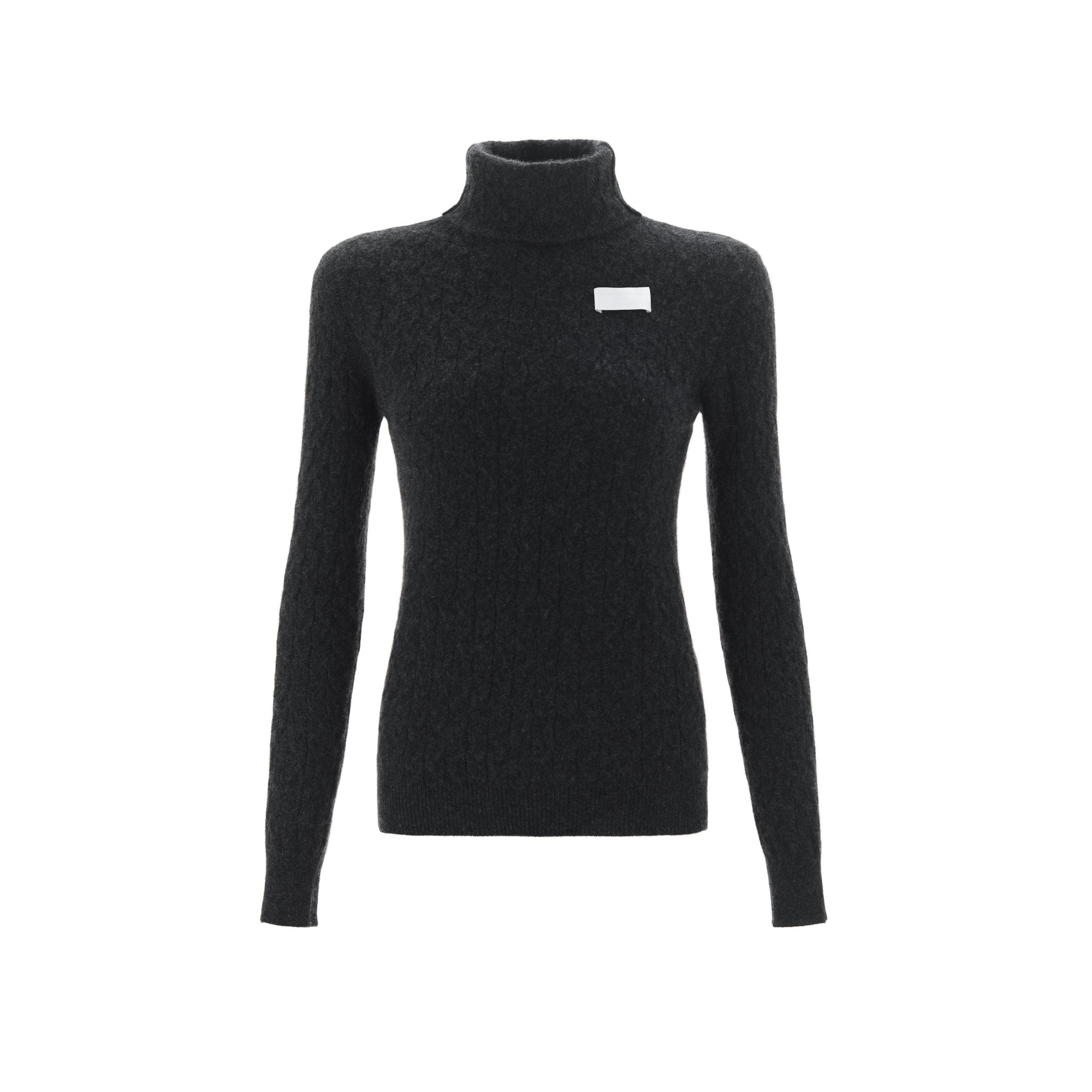 WARM AID Black Cashmere Turtleneck Sweater | MADA IN CHINA