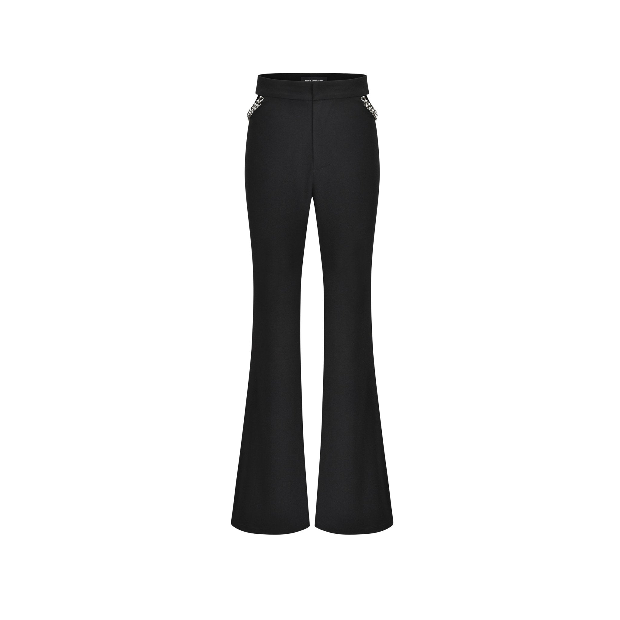 THREE QUARTERS Black Chain Trousers | MADA IN CHINA
