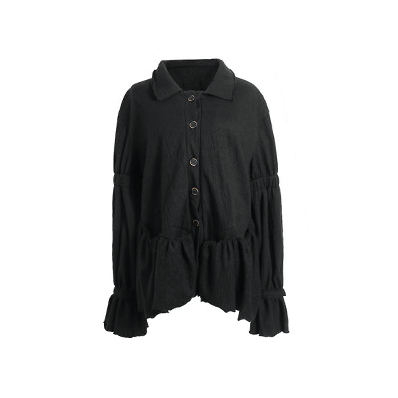 ELYWOOD Black Cinched Shirt | MADA IN CHINA