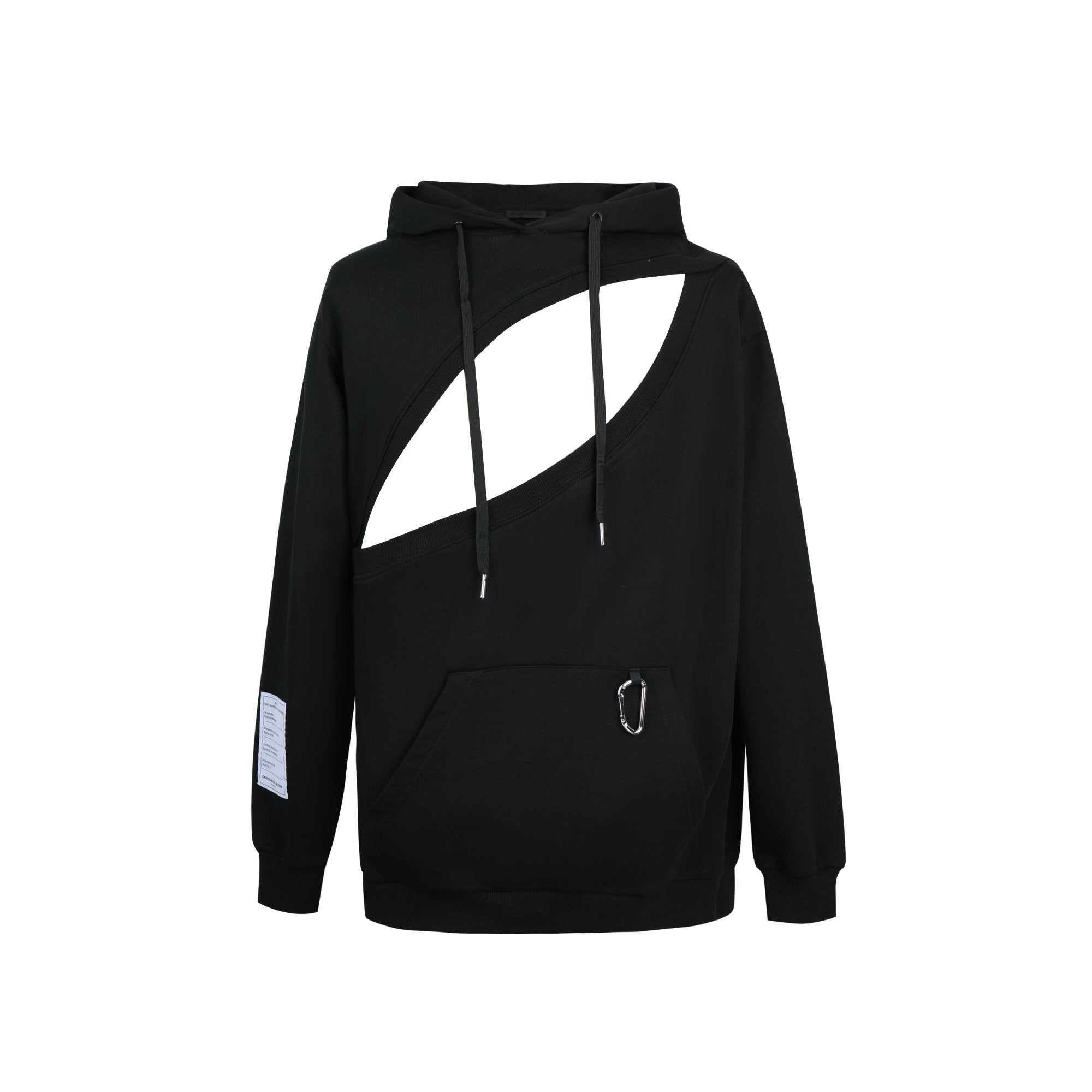 ONOFFON Black Cut-Out Hoodie | MADA IN CHINA