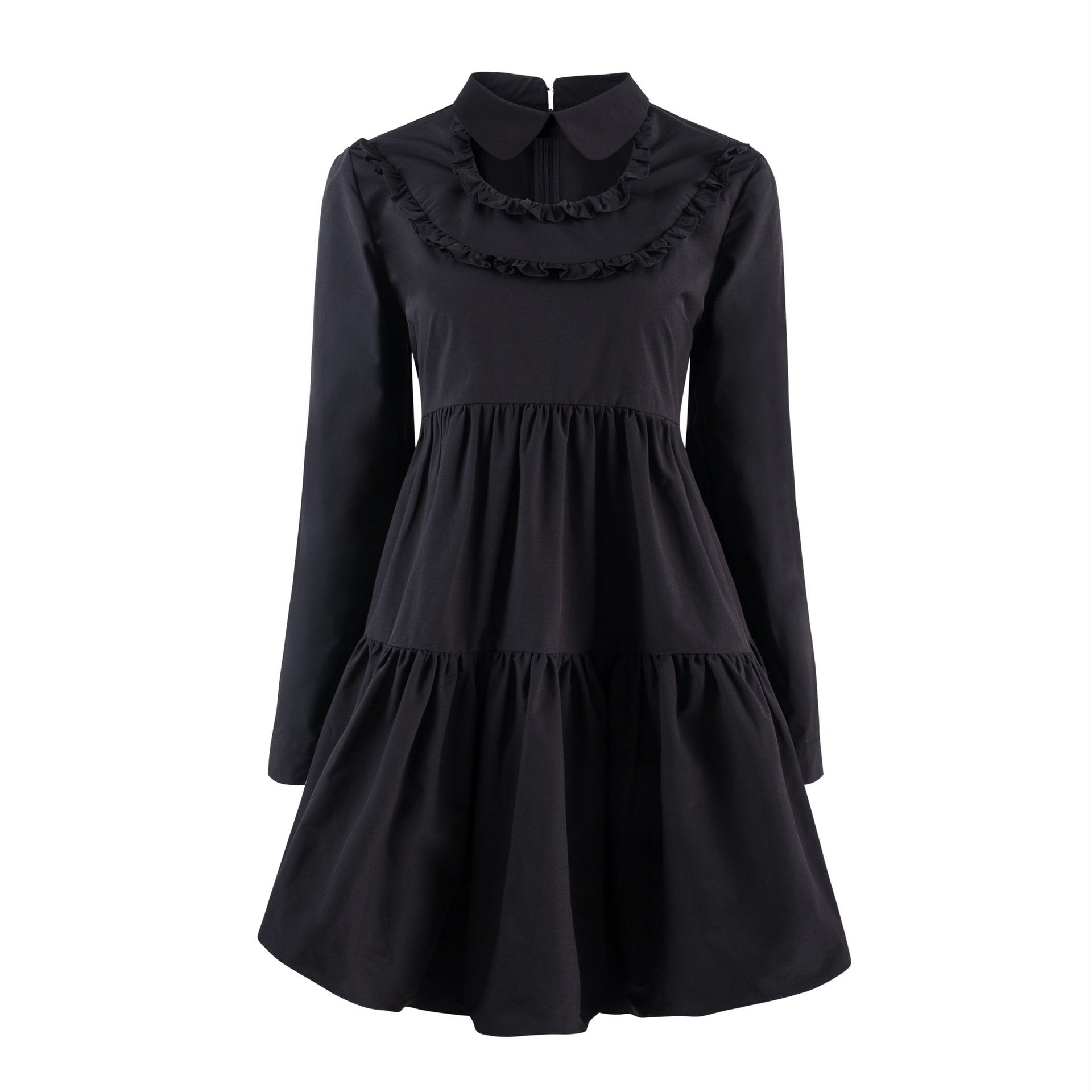 VIAS HERLIAN Black Cut-Out Shirt Dress | MADA IN CHINA