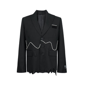 RAINO BARTON Black Diamond Blazer Jacket | MADA IN CHINA