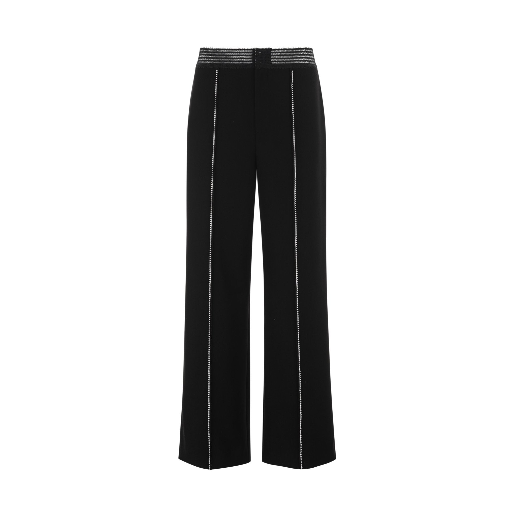 WARM AID Black Diamond Strip Wide Trousers | MADA IN CHINA