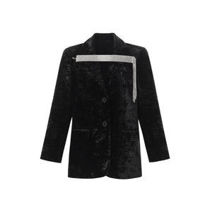 WARM AID Black Diamond Velvet Blazer Jacket | MADA IN CHINA