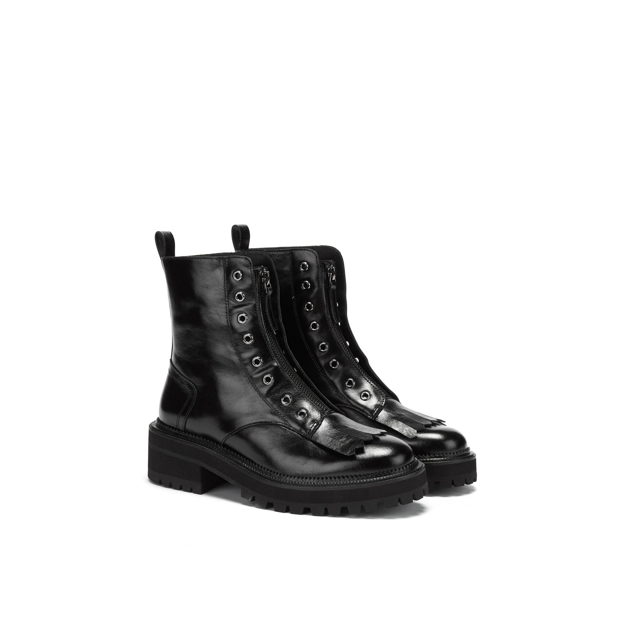 LOST IN ECHO Black Fringe Martin Boots | MADA IN CHINA